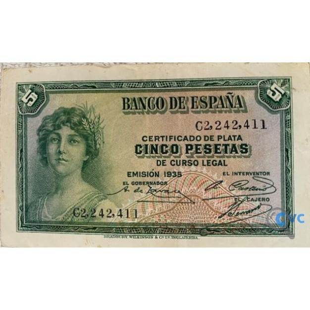 BILLETE 5 PESETAS 1935